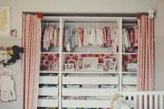 Ella Grace's Sweet Little Space — Nursery Tour (love the Ikea Pax interiors for storage in the closet)