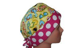 Scrub Hat Surgical Cap Chemo Hat Tie Back by ScrumptiousScrubHatz, $17.49