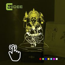 7 Colors USB 3d Nightlight for India Lord Ganesha LED RGB Touch Table Lamp Holiday Atmosphere Night Lights Lampara Touch Night //Price: $US $17.25 & FREE Shipping //     #festive #party #birthdayparty #christmas #wedding decoration #event
