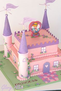 Princess Castle Cake towers are cardboard rolls