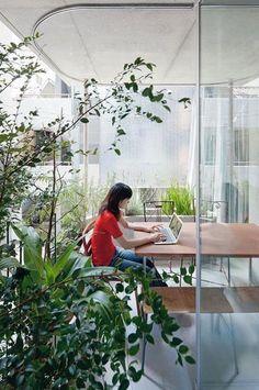 Interior image of architect Ryue Nishizawa's House & Garden,Tokyo.