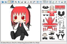 Here are more six cute paper dolls in Chibi style  from the Japanese anime and mangá series Touhou Project . You have Little Devil, Sayona...