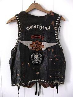 motorhead leather vest