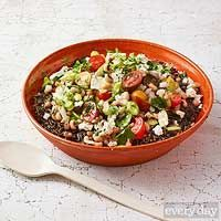 Wild Rice and Black-Eyed Pea Salad - tomatoes, bell pepper