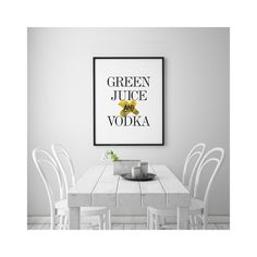 "Green Juice & Vodka - Gold Print on Plexi (Print on Acrylic) - by Bohemian Riot of Two Palms Art Bazaar"" | Bohemian Riot"