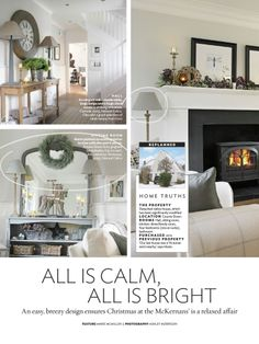 We were delighted to spot our Stone Grey Gingham Empire Lampshades in this home feature in 25 Beautiful Homes.