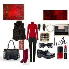 """Simple Black and Red"" by martha-hill-carter on Polyvore"