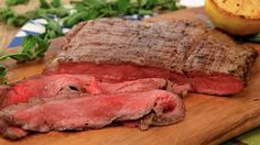 Greek-Style Flank Steak (I'm sorry but I can't eat pink meat, my steak will be WELL DONE!)