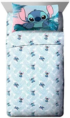 Jay Franco Disney Lilo & Stitch Floral Fun Full Sheet Set - 4 Piece Set Super Soft and Cozy Kid's Bedding - Fade Resi. Lilo And Stitch Quotes, Lilo Stitch, Cute Bed Sets, Disney Bedrooms, Stitch And Angel, Cute Stitch, Cute Disney Drawings, Cute Disney Wallpaper, Bedding Sets
