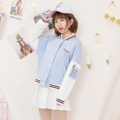 Mori Curvy Spring Sweet Print Jacket College Coat make you a fashionista.
