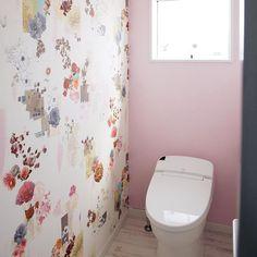 Dフロア/花柄/ピンクの壁/LIXIL/バス/トイレのインテリア実例 - 2016-08-15 21:44:36 | RoomClip(ルームクリップ)