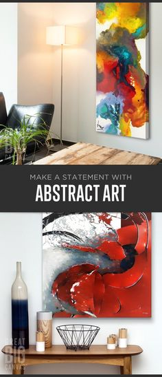 Abstract artwork works great to offset rooms with existing modern or traditional elements, and to add a visually stimulating focus to the room. Explore our collection of best selling abstract art at GreatBIGCanvas.com.