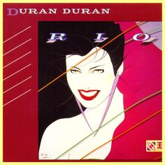 The most widely publicised illustration by the late Patrick Nagel - the cover art for the album Rio by Duran Duran
