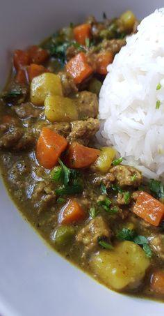 Curry de boeuf et de légumes