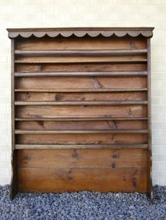 Antique French Provincial Plate Rack Elm & Oak Plate Rack Wall Mount | late Victorian solid oak wall mounted ...