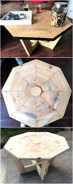 reclaimed pallets cable reel table