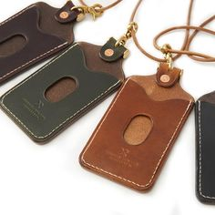 Personalized Badge holder/ id holder/ name card holder /leather badge holder pattern/ leather templa Leather Badge Holder, Leather Keychain, Id Holder, Badge Holders, Name Card Holder, Card Holders, Personalised Badges, Leather Wallet Pattern, Notebook Case