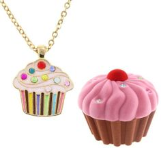 That's what the girls will get at our party. Cupcake Necklace in Cupcake Shaped Box