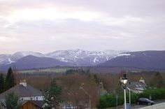 Cairngorms over Aviemore even got snow in spring xS
