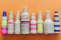 Make These Rope Bottle Vases in Under 10 Minutes! | by Lauren Weems of Brit + Co.