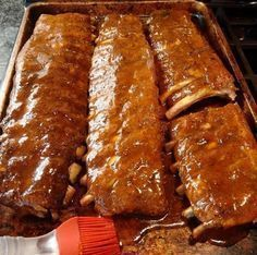 Dreamy Super Tender Ribs Recipe - Step by Step Rib Recipes, Grilling Recipes, Cooking Recipes, Carne Asada, Tender Ribs, Portuguese Recipes, Soul Food, Food Porn, Food And Drink
