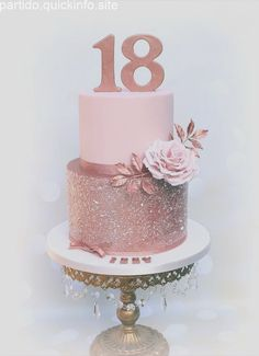 Wedding cake recipes 587508713876570596 - Rose Gold Birthday Cake Rose gold birthday cake, rose gold glitter cake – Huge Rose Gold Birthday Cake Rose gold birthday cake rose gold glitter cake Source by Birthday Cake Roses, Sweet 16 Birthday Cake, 21st Birthday Cakes, Beautiful Birthday Cakes, Beautiful Cakes, Birthday Parties, Glitter Birthday Cake, 18th Birthday Cake For Girls, 18th Birthday Decor