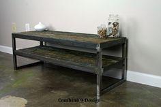 Vintage Industrial TV Stand Reclaimed wood & Steel by leecowen, $525.00