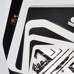 Zaha Hadid has created a nine-storey office block in Moscow with off-set floor…