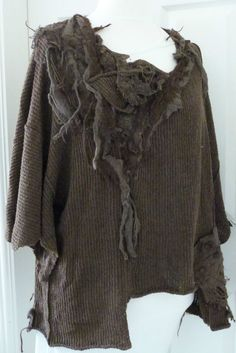 fabulous ZUZA BART quirky  layering jumper 80% SOFT WOOL chocolate applique