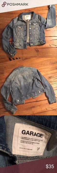 "Garage Denim Jacket Garage Denim Jacket. Like new. Fitted. 17.5"" long.  Size S Garage Jackets & Coats Jean Jackets"