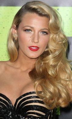 Blake lively does vintage hair so lovely