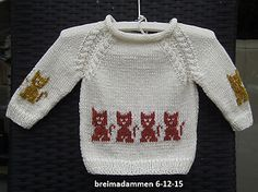 Poezentruitje Pattern By De Breimadammen - Diy Crafts Baby Knitting Patterns, Baby Sweater Knitting Pattern, Knit Baby Sweaters, Knitting Charts, Knitting For Kids, Baby Cardigan, Ravelry, Vintage Knitting, Kids Outfits