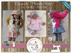 Tutorials child - Ebook * * Mienchen Sweatjacke * Gr. 56/62 - 152/158 - a designer piece of PomundPino at DaWanda