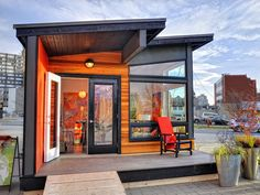 Modern Backyard Cottage /  400 sq ft /  see complete details at http://smallhousebliss.com/2013/09/07/studio37-by-small-modern-living/