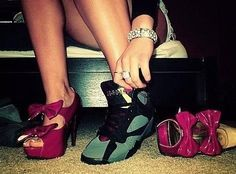 Exactly my style .. Jordan's and heels !
