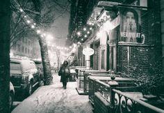 New York City - Snow at Night - East Village