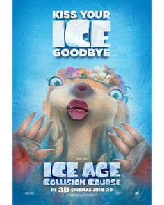 5 Clips of Ice Age 5 Collision Course : Teaser Trailer Animated Movie Posters, Disney Movie Posters, New Movie Posters, Film Posters, Disney Movies, Ice Age Sid, Ice Age Collision Course, Ice Games, Blue Sky Studios