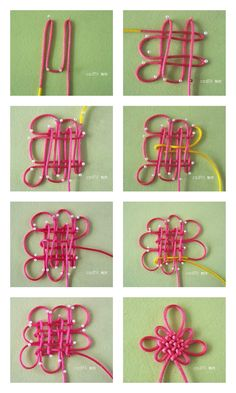 Chinese knot... I don't know about useful but it's a nice trick!