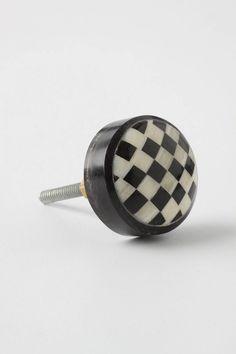 Checkerboard doorknob - so cute!