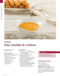 Salsa estofada de verduras