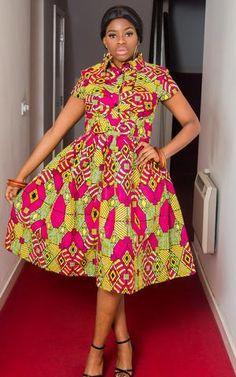 Emeka African Midi Dress-HouseOfSarah14 Best African Dress Designs, Best African Dresses, Latest African Styles, African Attire, African Fashion Dresses, African American Fashion, African Print Fashion, Ethnic Fashion, Fashion Women
