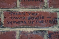 A David Bowie memorial in Brixton's Windrush Square