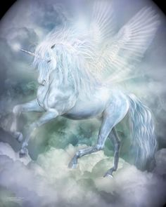 Unicorn Cloud Dancer Mixed Media by Carol Cavalaris