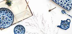 Bunzlau Castle || Blue is our favorite color #Polishpottery #pottery #tableware #home #bunzlau #BunzlauCastle #Stoneware #Bluekitchen #polishblue #Bunzlauservies #kitchen  #textile #coffee #Cappuccino #tea #teatime #dinner #blue