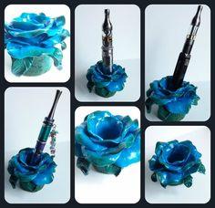 Handmade polymer clay rose ecig holder by VapingArtist on Etsy, $16.00