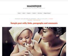Magnifique Blogger Template | New Blogger Themes | Professional Blogspot Templates