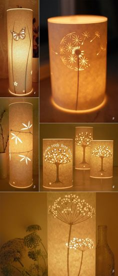 Beautiful DIY Paper Lamps... This would be beautiful to do as luminaries along the driveway! #DIY