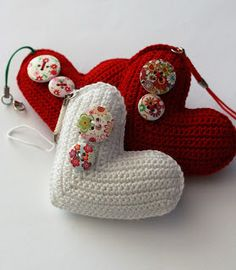 Bag charmCrochet heart ornamentEco-frienndly giftBag by UpRo Crafts For Kids, Arts And Crafts, Craft Tutorials, Crochet, Coin Purse, Crafty, Christmas Ornaments, Promotion, Knitting
