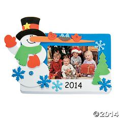 2014/2015 Snowman Picture Frame Magnet Craft Kit, Photo Crafts, Crafts for Kids, Craft & Hobby Supplies - Oriental Trading