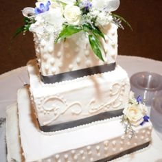 Another view if this wedding cake I made